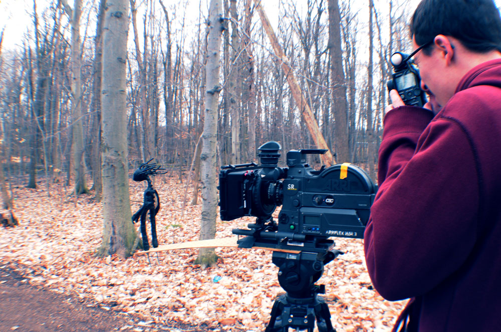 Assistant Camera Adam Schonberg and the snorri rig