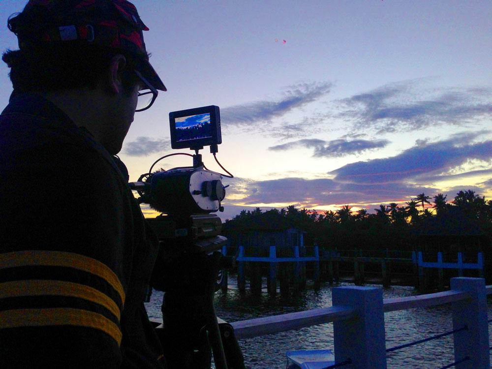 Jason shoots the Palawan sunset