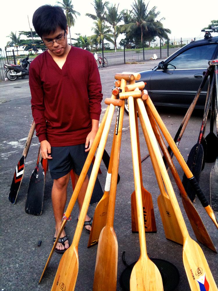Cinematographer Mackie Galvez frames the paddle shot