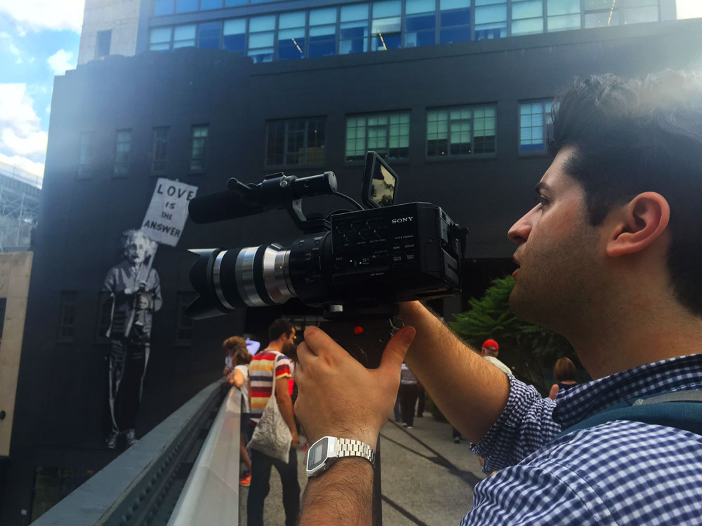 Jason shoots b-roll on the High Line