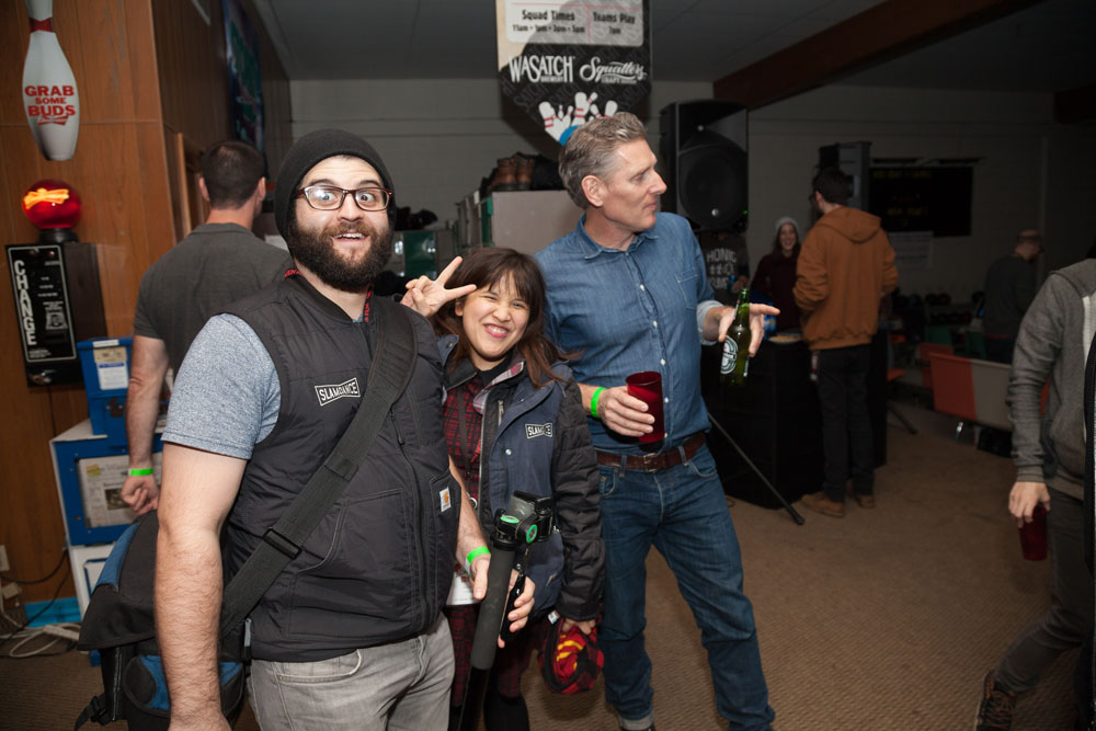 Jason, Marie, and Slamdance co-founder and President, Peter Baxter at the Opening Night Party. Photo by Ian Stroud.