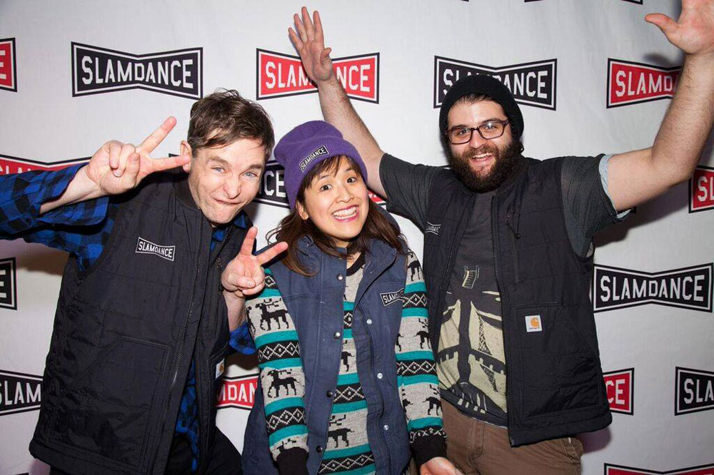 Christopher, Marie, and Jason on the Slamdance Red Carpet. Photo by Ian Stroud.
